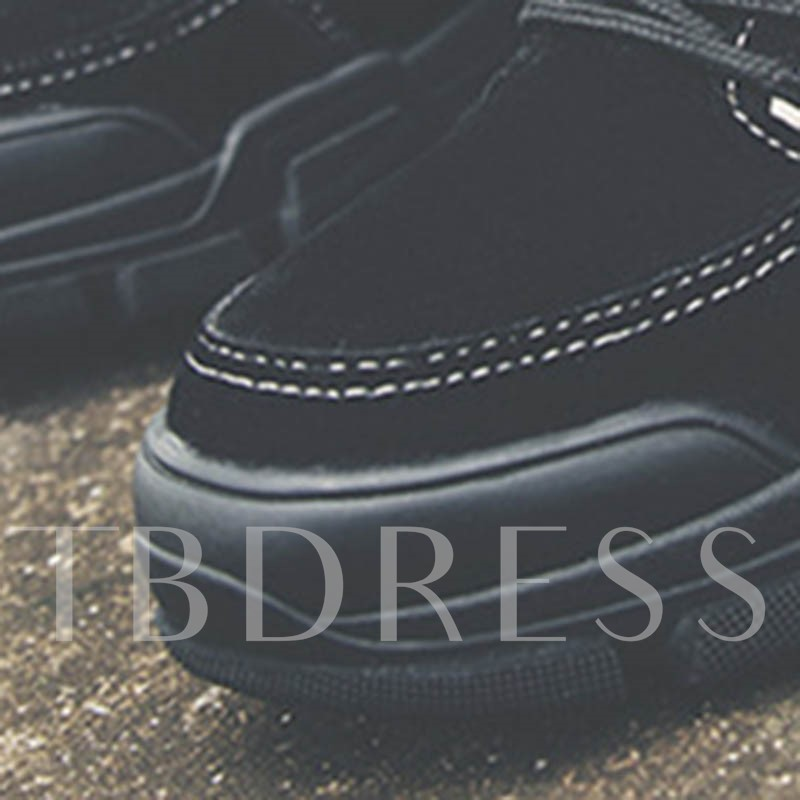 Round Toe Lace-Up Front Patchwork Men's Martin Boots