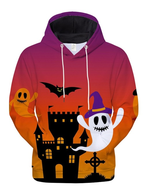 Architecture Print Pullover Halloween Costume Men's Hoodies
