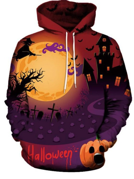 Print Pullover Letter Halloween Costume Men's Hoodies