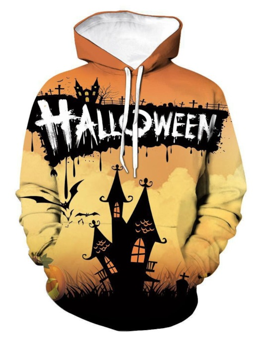 Pullover Print Architecture Halloween Costume Men's Hoodies