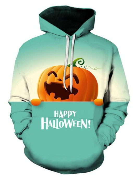 Print Color Block Pullover Halloween Costume Men's Hoodies
