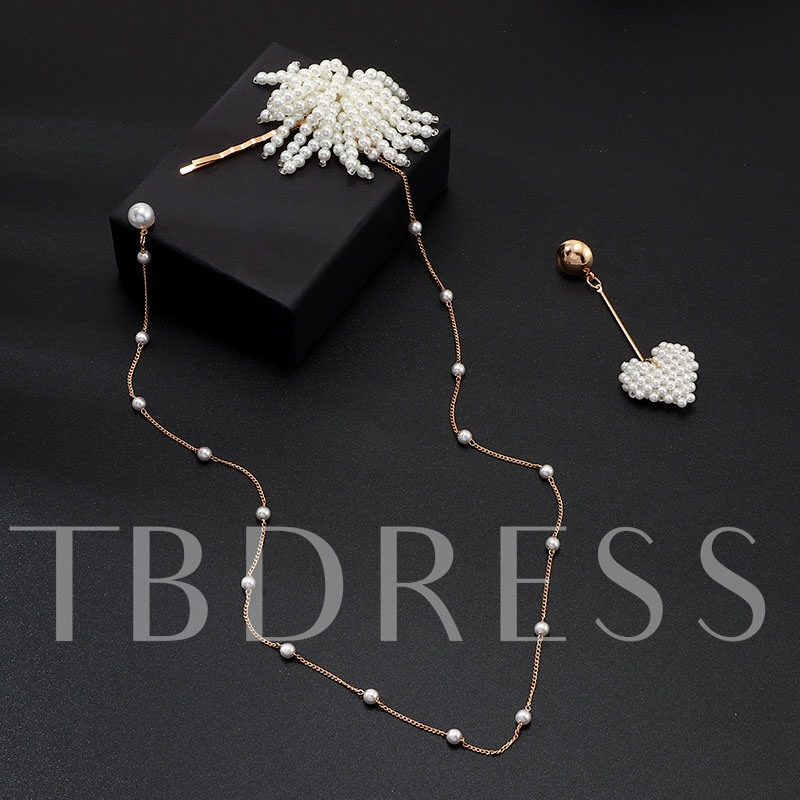 Earrings Sweet Pearl Inlaid Prom Headpiece Jewelry Sets