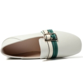 Round Toe Soft Leather Lace-Up Casual Flats