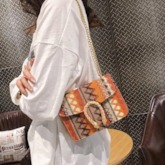 Embroidery Chain Stripe Rectangle Crossbody Bags