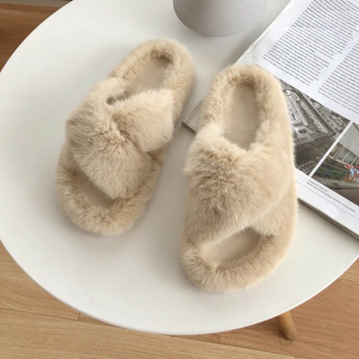 Cross Flat With Slip-On Winter Slippers