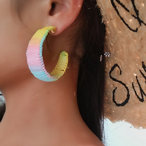 European Alloy Handmade Hoop Earrings
