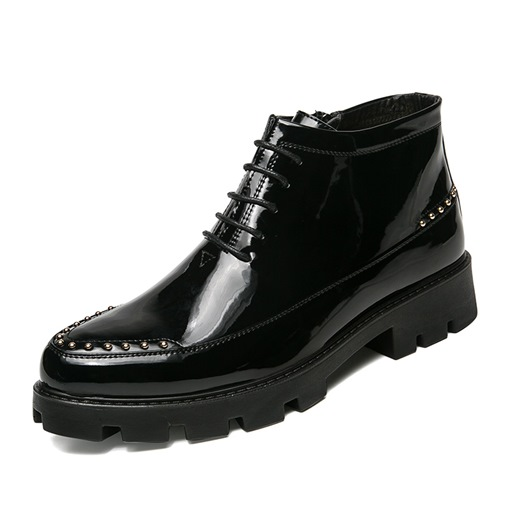 High-Cut Upper Pointed Toe Men's Boots