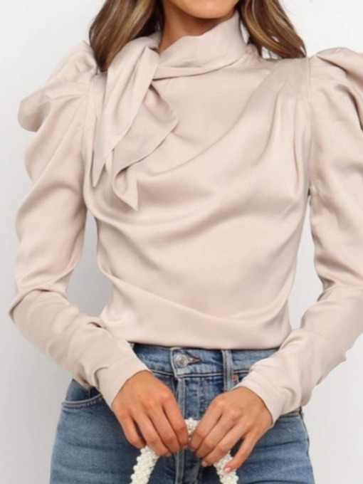 Plain Standard Long Sleeve Women's Blouse