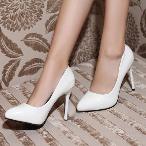 Slip-On Pointed Toe Stiletto Heel Business Pumps