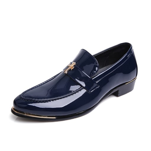 Flat Slip-On Low-Cut Upper PU Leather Men's Business Shoes