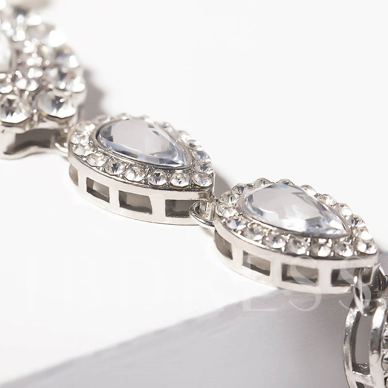 Female European Diamante Anklets
