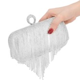 Tassel Rectangle Clutches & Evening Bags