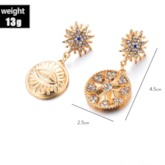 Diamante Alloy Vintage Anniversary Drop Earrings