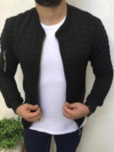 Thick Stand Collar Plain Zipper Casual Men's Jacket