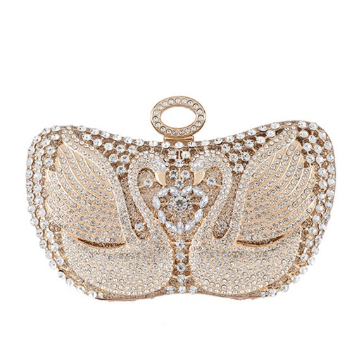 Rhinestone Swan Versatile Clutches & Evening Bags