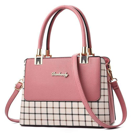 Thread PU Plaid Rectangle Women's Tote Bags