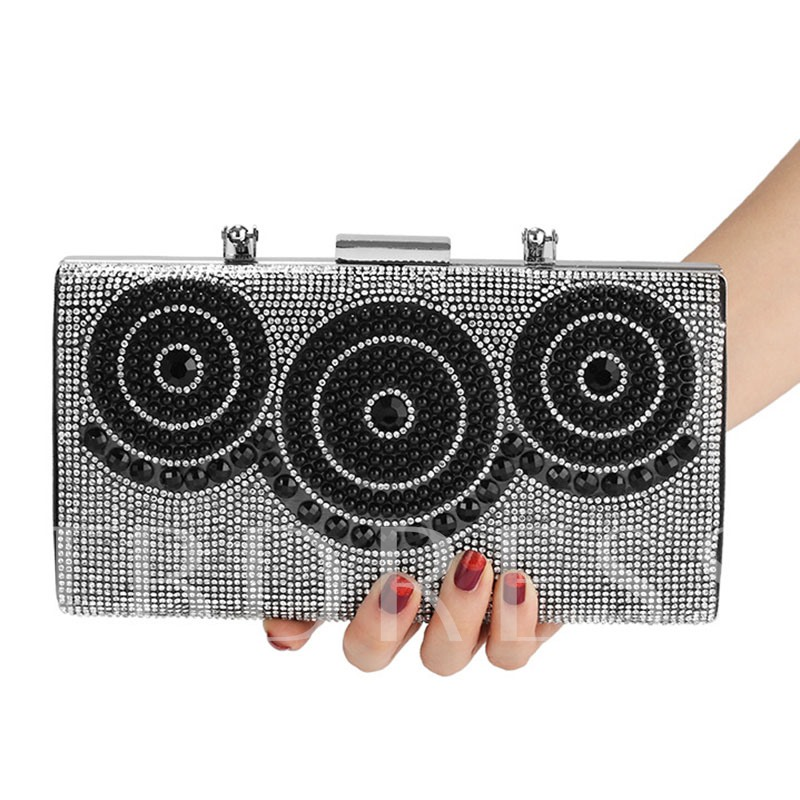 Rectangle Banquet Geometric Clutches & Evening Bags