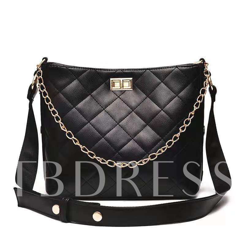 Plaid Quilted Lining PU Rectangle Shoulder Bags