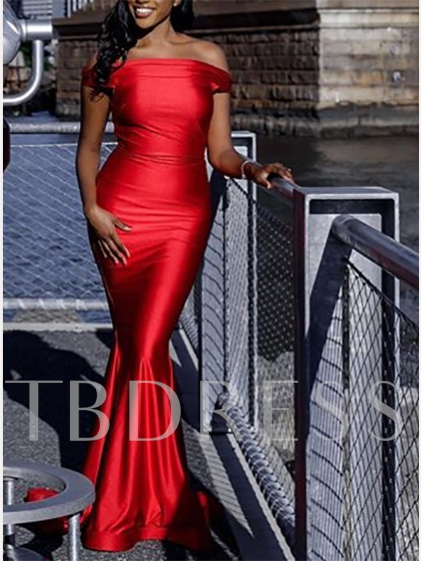 Off-The-Shoulder Mermaid Red Evening Dress 2019