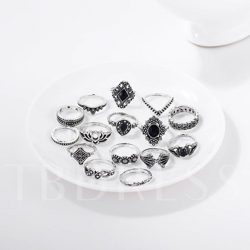 Hollow Out Vintage Alloy Party Rings