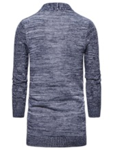 Pocket Color Block Mid-Length Men's Sweater