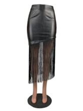 Mid-Calf Asymmetrical Plain Asymmetric Fashion Women's Skirt