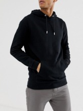 Plain Pullover Pocket Loose Men's Hoodies