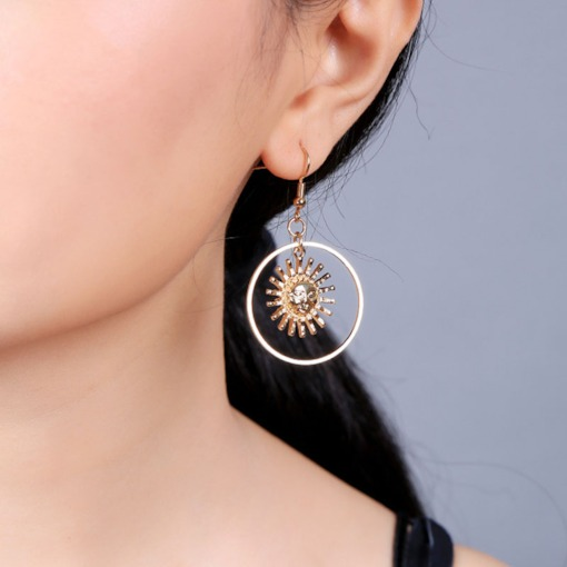 Korean Alloy E-Plating Anniversary Earrings