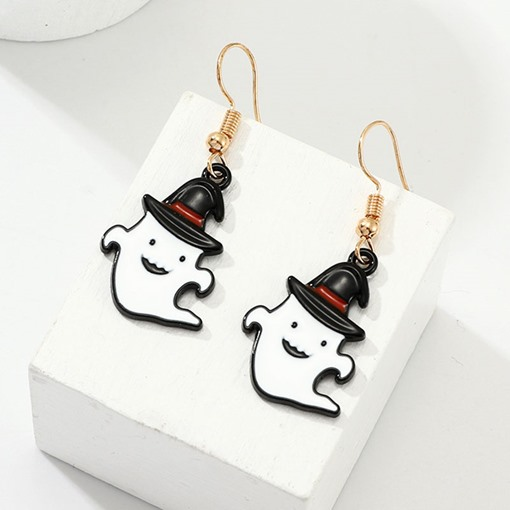 Halloween Alloy Oil Drip European Gift Earrings