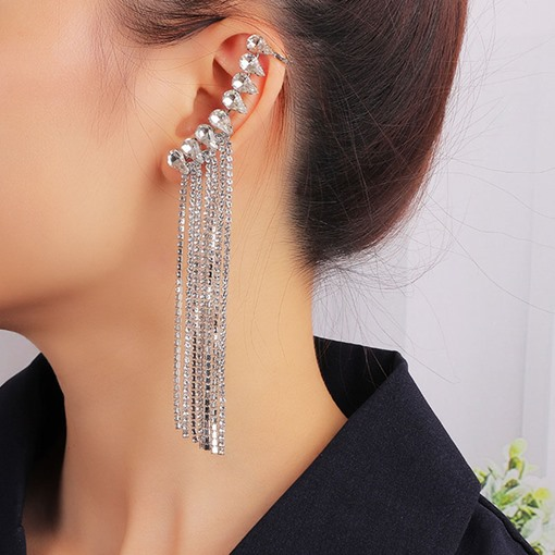 Diamante Alloy Prom Drop Earrings