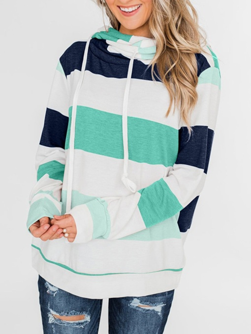 Color Block Fall Women's Hoodie