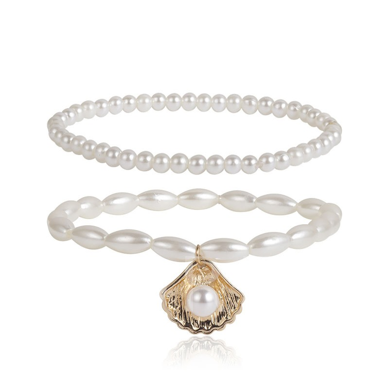 Diamante Pearl Female Sweet Anklets