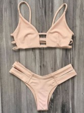 Plain Bikini Set Women's Swimwear
