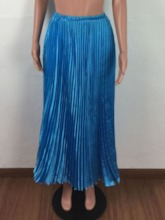 Floor-Length Plain Pleated Fashion Women's Skirt