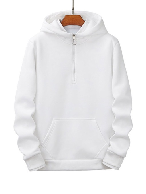 Pullover Plain Pocket Spring Men's Hoodies