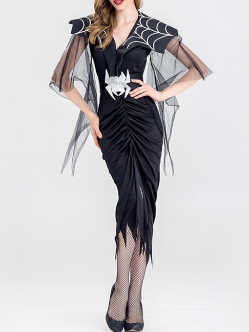 Asymmetric Western Three-Quarter Sleeve Classic Halloween Women's Costumes