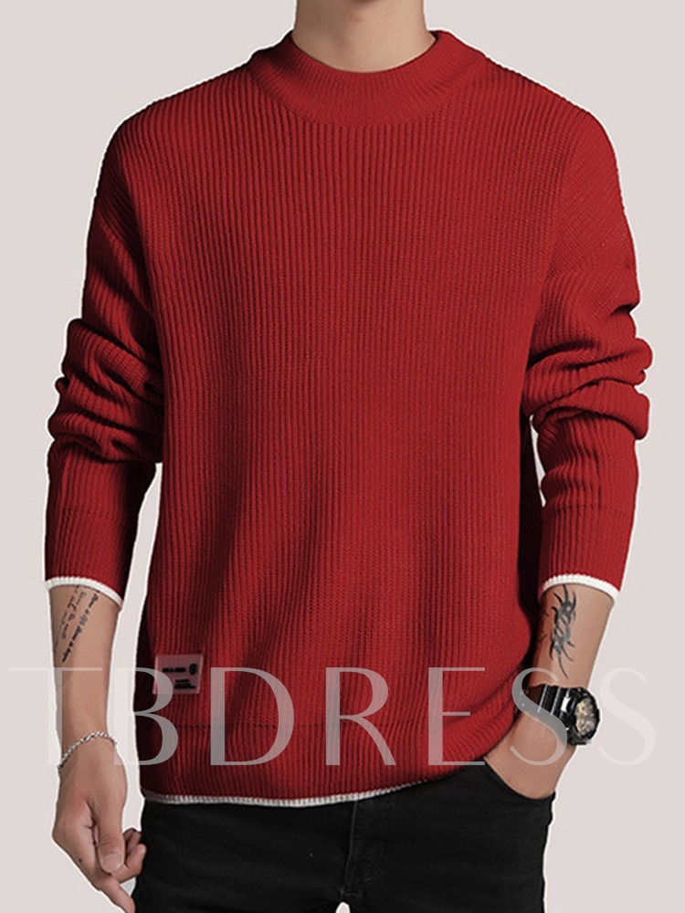 Color Block Standard Korean Men's Sweater