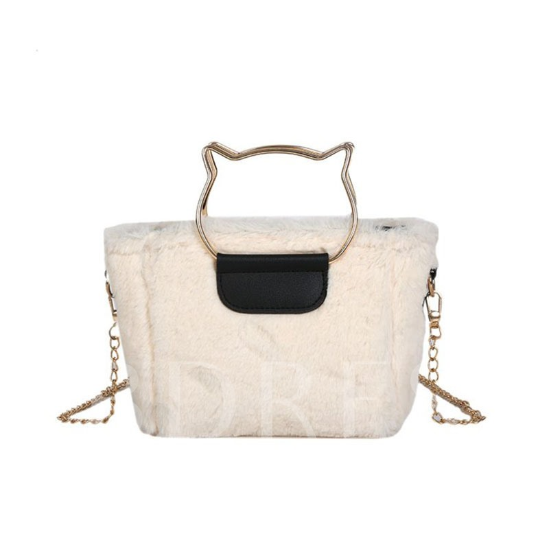 Chain Fluff Rectangle Tote Bags