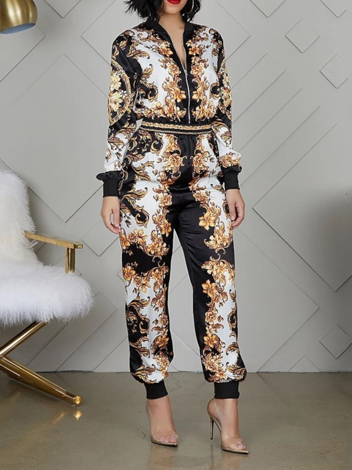 Fashion Animal Ankle Length Print Sexy Slim Women's Jumpsuit