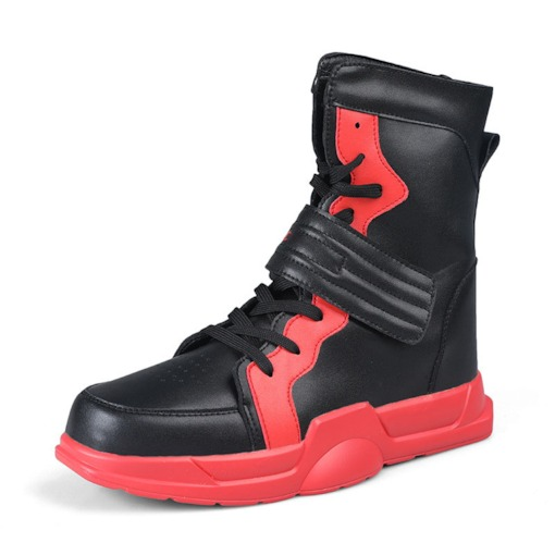 Lace-Up High Top Round Toe Men's Skate Shoes