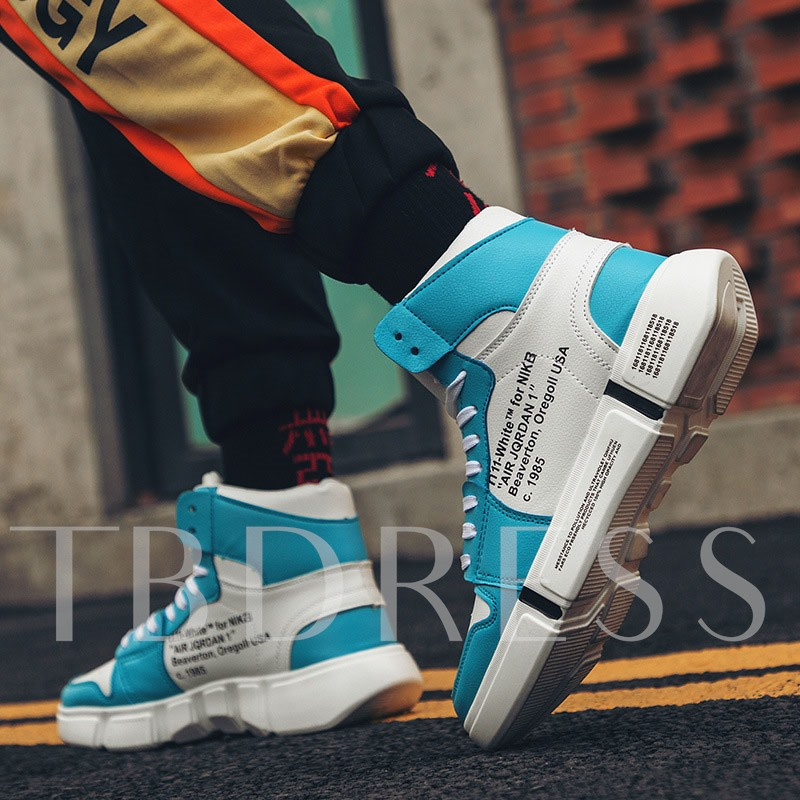 Sports Lace-Up High Top Men's Sneakers