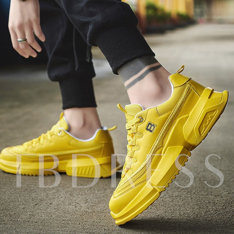 Sports Low-Cut Upper Lace-Up Mesh Chunky Sneakers for Men
