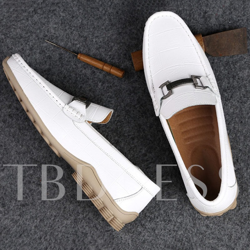 Simple Low-Cut Upper Slip-On Round Toe Men's Loafers