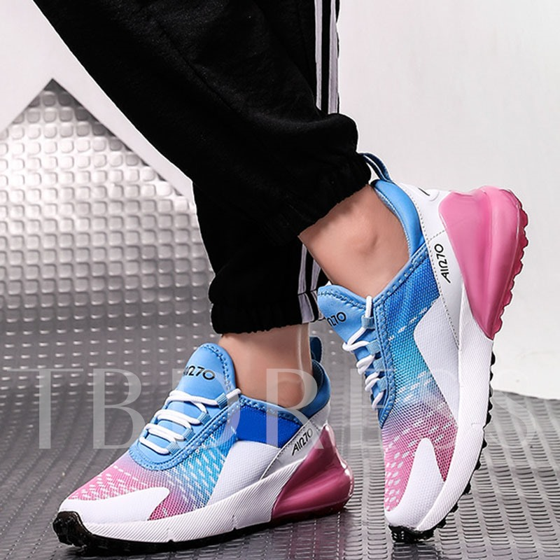 Lace-Up Round Toe Mesh Lightweight Sneakers