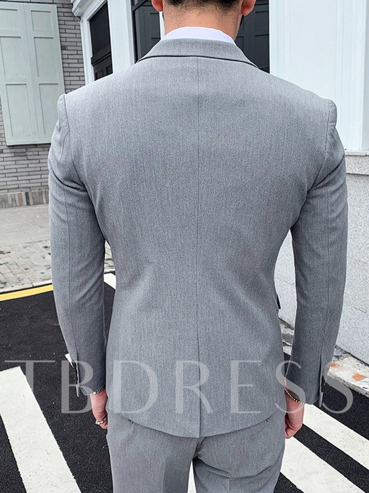 Color Block Button One Button Korean Men's Dress Suit