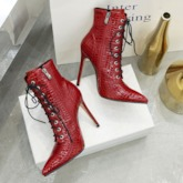 Stiletto Heel Side Zipper Pointed Toe Sexy Ankle Boots