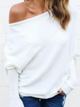 Oblique Collar Women's Sweater