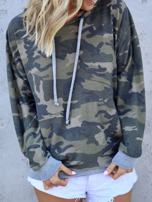 Camouflage Regular Fall Women's Hoodie
