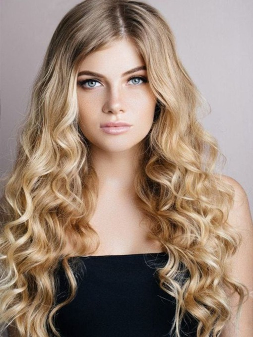 Lace Front Cap Curly Synthetic Hair 26 Inches Wigs