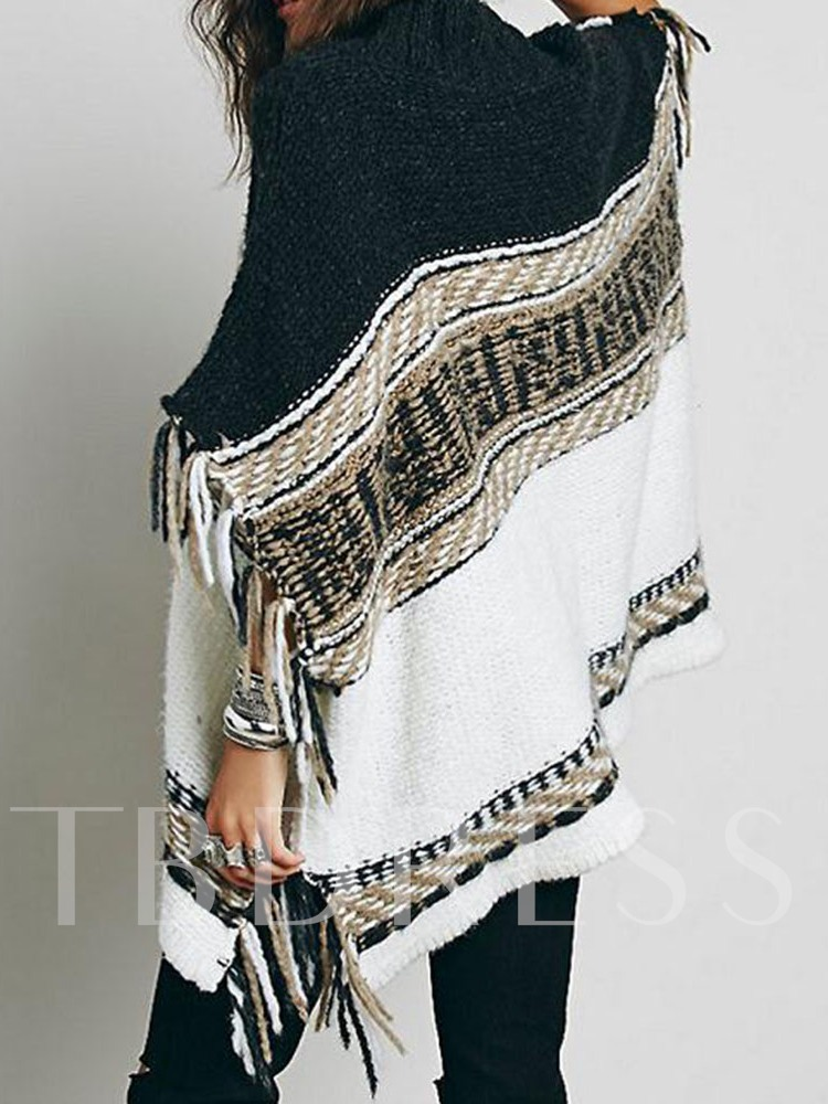 Tassel Batwing Sleeve Thin Fall Women's Sweater